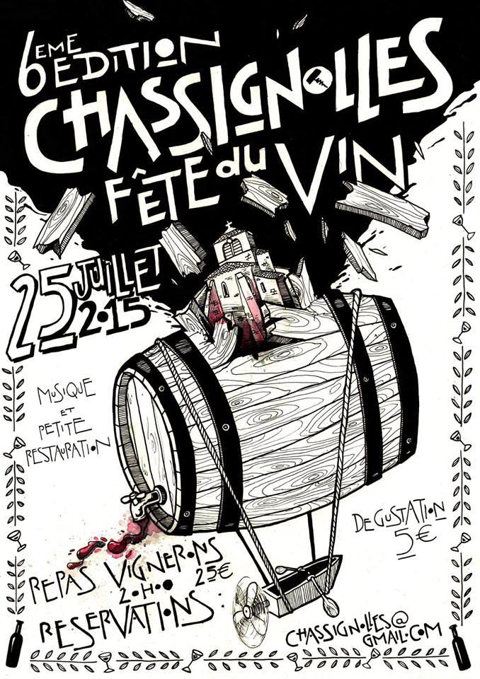 Affiche Fête du Vin 2015